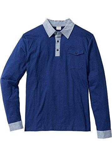Herren Langarmshirt Regular Fit, 195703 in Blau
