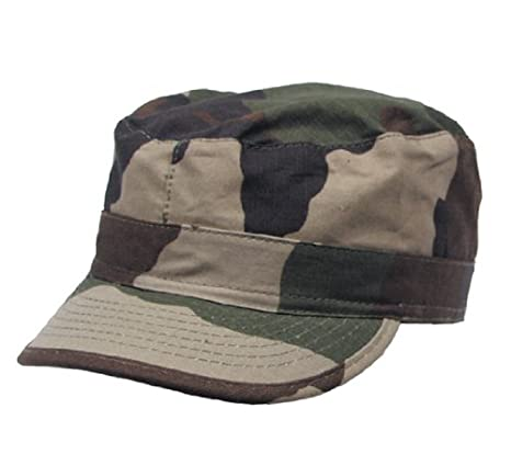 Gorra de campo de estilo militar, ripstop, reforzada con escudo ...