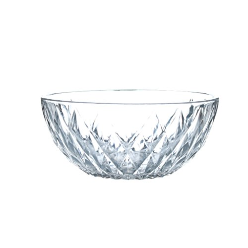 (Soup bowl Fine Transparent Glass Bowl, Large-volume Vegetable/fruit/salad/pasta Bowl (size: 5/7/8/9 Inches) home kitchen restaurant tableware fruit snacks (Size : 9 inches))