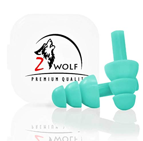 Zwolf - Comfortable Ear plugs for Sleeping - Reusable Noise Cancelling Earplugs , Snoring , Concert , Swimming , Loud Events NRR 32