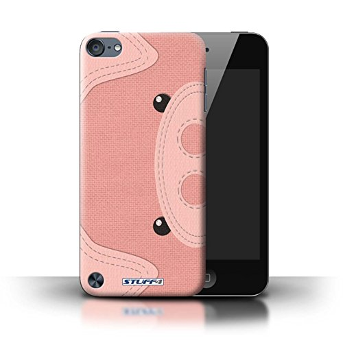 (STUFF4 Phone Case / Cover for Apple iPod Touch 5 (5th Generation) / Pig Design / Animal Stitch Effect Collection)