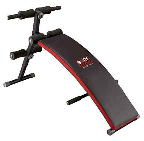 Body Sculpture BSB510 Abdominal Sit-Up Bench | Adjustable Incline | Foldable | Padded | Push Up Bars | More
