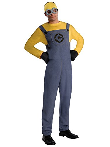 Rubie's Despicable Me 2 Adult Minion Dave, Blue/Yellow, Standard Medium Costume -