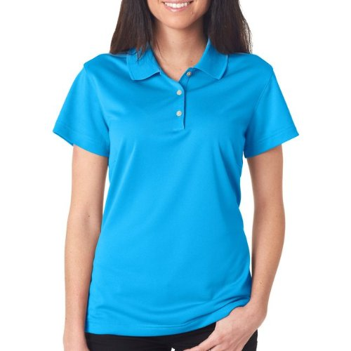 Climalite Adidas Polo Pique - Adidas Women'S Golf Climalite Basic Performance Pique Polo Coast M