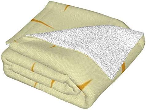 Couverture polaire Atomic Starburst orange ultra douce et moelleuse en peluche pour canapé, lit et salon 127 x 101,6 cm
