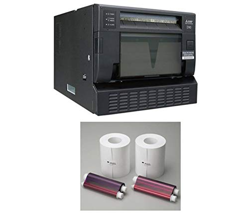 (Mitsubishi CP-D90DW High Speed Dye-Sub Professional Event & Photo Booth Portrait Digital Printer with Mitsubishi Print Media 6 inch Paper, 2 Rolls )