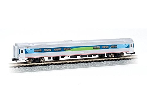 Bachmann Industries Inc. Amtrak Budd Passenger Car 85' Amfleet I Acela Regional Cafe (Lighted Interior) - N Scale Acela Train Set
