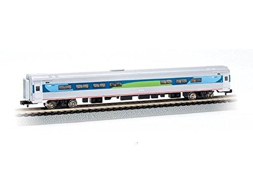 Bachmann Industries Inc. Amtrak Budd Passenger Car 85' Amfleet I Acela Regional Cafe (Lighted Interior) - N (Amtrak Cafe Car)