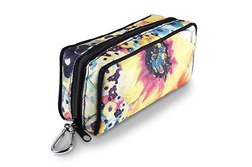 10 Bottle Essential Oil Carrying Cases Box,Essential Oils Travel Bag For doTERR Youg living Oils 5ml, 10ml and 15ml bottle (sunflower) by Gogobag