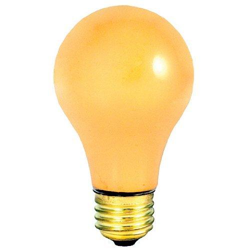 Bulbrite 25A/YB 25 Watt Incandescent Standard A19 Bug Light