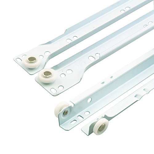 - Prime-Line MP7210 Drawer Slide Kit, 15-3/4 in, Steel Tracks, White Powder Coat, 1 Set