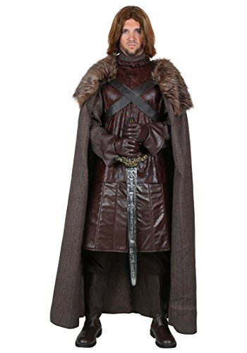 North King Costume for Adult Men, Halloween Warrior Cosplay Outfit Masquerade Accessory (L, (North Halloween Costume)