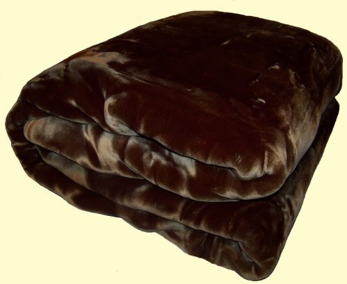 Wonu Korean Quality Trix Solid Mink Blanket (Chocolate Brown, King Size)