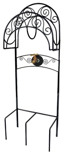 Liberty Garden Products 640 Carrington Decorative Metal Garden Hose Stand - Black