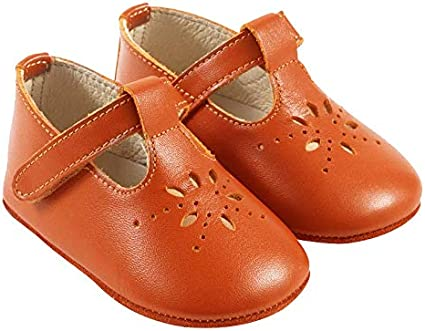 Tichoups Chaussures b/éb/é cuir souple Salom/é camel 16//17