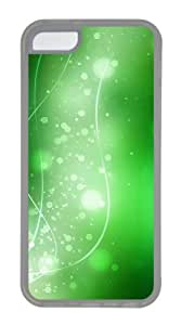 Customized Case Colorful Green Art 03 Transparent for Apple iPhone 5C