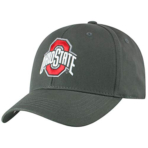 Top of the World NCAA Ohio State Buckeyes Men's Fitted Relaxed Fit Charcoal Icon Hat, Charcoal - State Fitted Hat