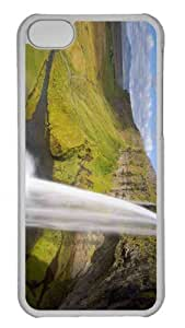 Customized iphone 5C PC Transparent Case - Waterfall 3 Personalized Cover