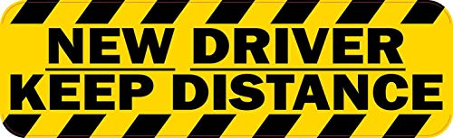 StickerTalk 10in x 3in New Driver Keep Distance Magnet Car Truck Vehicle Magnetic Sign