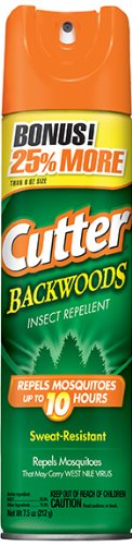Cutter Backwoods Mosquito Wipes - Cutter Backwoods Insect Repellent (Aerosol) (HG-96281) (7.5 oz)