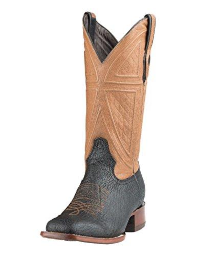 - Stetson Men's Beaumont Teju Lizard Cowboy Boot Square Toe Brown 8.5 D