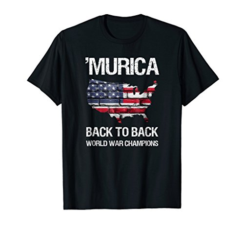 Murica Back to Back World War Champions T-Shirt (Back To Back World War Champs Womens)
