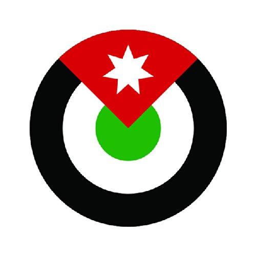 Royal jordanian air force roundel sticker die cut decal fa for Metallic farben fa r die wand