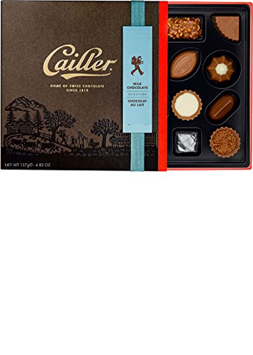 CAILLER Milk Chocolate Selection, Small Box Assortment, 4.8 Ounce, (16 Pieces)