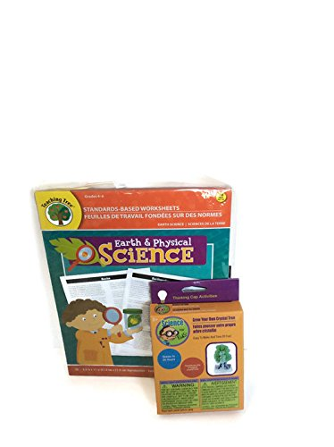 Teaching Tree Earth & Physical Sciences Worksheets & Grow A Crystal Tree Grades 4-6 Science Project Kit Bundle