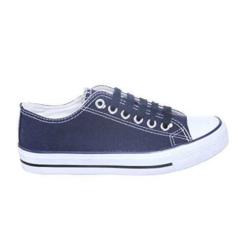 Navy Canvas Sneakers (NEW STYLE!! Canvas Sneaker Best Seller (9, navy) [Apparel])