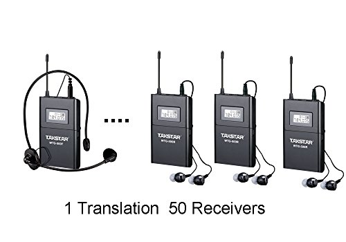 Wireless Acoustic Transmission System Tour Guiding, Simultaneous Translation, Audio-visual Eduation (1 Transmitter and 50 Receivers) by ANLEON