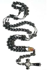 "Amazon.com: Great Gift! Unisex 22"" Black Round Hematite"