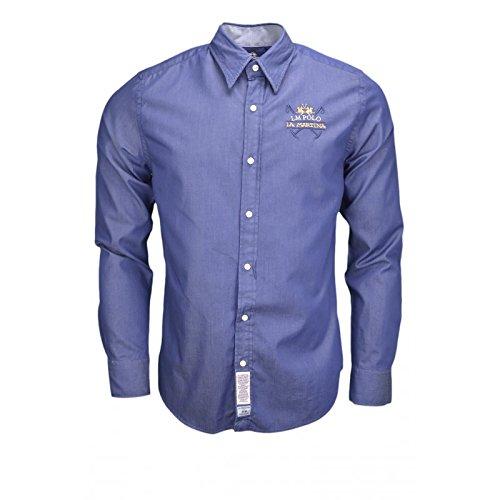 la-martina-slim-fit-bi-colour-twill-shirt-indigo-m