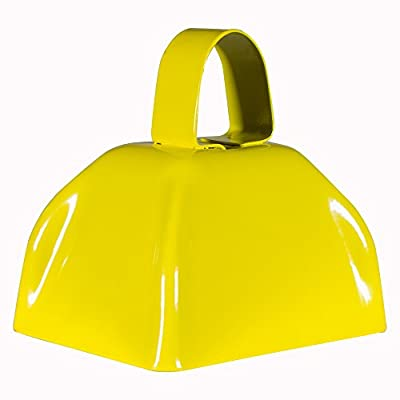 Metal Cowbells with Handles 3 inch Novelty Noise Maker - 12 Pack