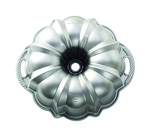 New Classic Silver Non Stick Aluminum Baking Cake Bundt Pan with Kitchen Tools Combo
