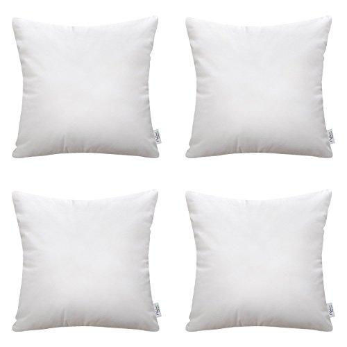 Ashler Set of 4 Hypoallergenic Throw Pillow Inserts Standard Square Polyester Sham 16
