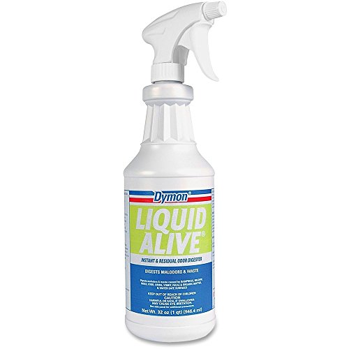 DYMON 33632 LIQUID ALIVE Odor Digester, 32oz Bottle, (33632 Liquid)