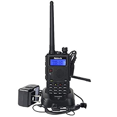 Retevis RT5 (Generation 2) 8W Two Way Radio with 128 Channels VHF/UHF 136-174/400-520MHz Scan VOX DTMF FM Car Charging Walkie Talkie