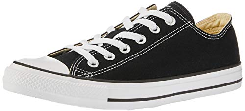 Converse Unisex Chuck Taylor All Star Low Top Black Sneakers - 7 Men 9 Women ()