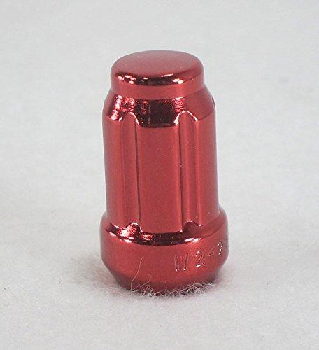 1/2-20 in Red Anodized Steel Splined Lug Nuts