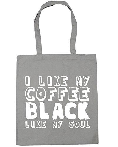 HippoWarehouse - Bolsa de playa de algodón  Mujer, negro (negro) - 21510-TOTE-Black gris claro