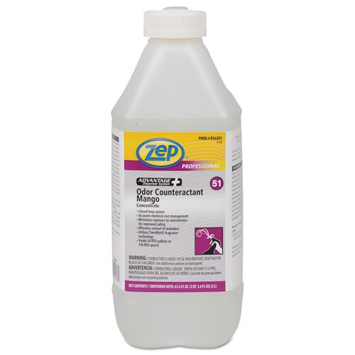 Zep Professional Concentrated Odor Counteractant, Mango, 2L Bottle - Includes four bottles.