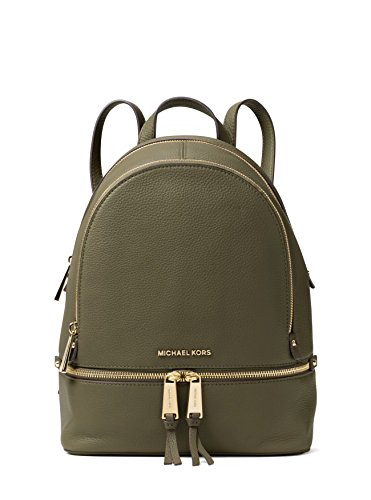 MICHAEL Michael Kors Rhea Zip Medium Backpack (Olive) (Michael Kors Fashion Store)