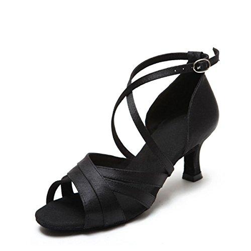 Miyoopark Salle Black bal Heel 5cm de 7 femme qRTUrwqBC