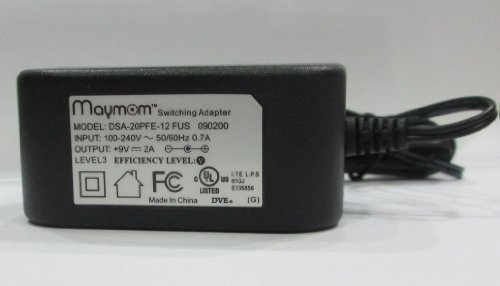 Maymom AC adapter for Medela's Pump In Style Advanced, Traveler, or Companion; Medela Power Transformer Part # 9207010, 9V Model; Safe, Light, Compact & Efficient by Maymom