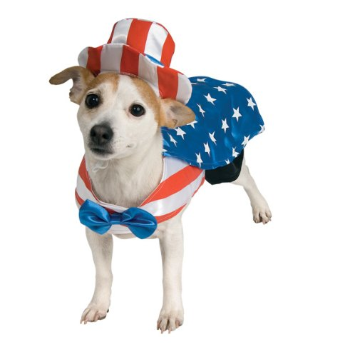 Rubie's Uncle Sam Pet Costume, Medium (Female Action Heroes Costumes)