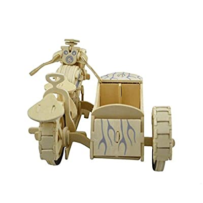 NOQ Wooden DIY Assembled Motorcycle/3D Stereo Jigsaw Puzzle/Home Decorative Arts And Crafts: Toys & Games