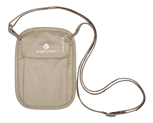 41r%2BD%2BOPOBL - Eagle Creek RFID Blocker Neck Wallet, Tan
