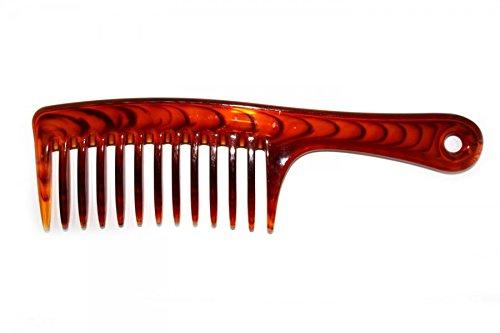 Bilson Profi Styling Kamm, grob, Schildpatt-Optik - für lockiges und volles Haar - Länge: 24cm