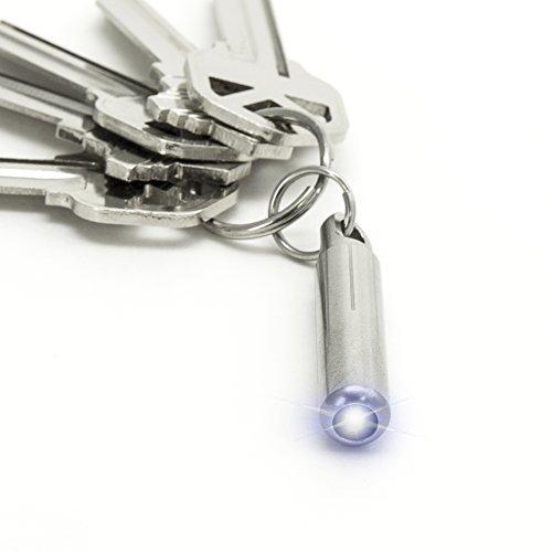 keysmart Nano antorcha   Acero Inoxidable Llavero con linterna